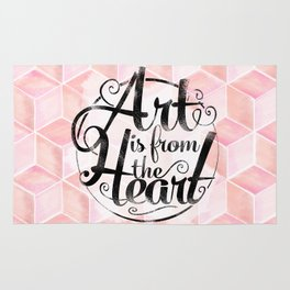 Art Is From The Heart. Rug
