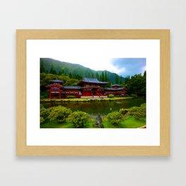 Temple Valley Buddah ... By LadyShalene Framed Art Print
