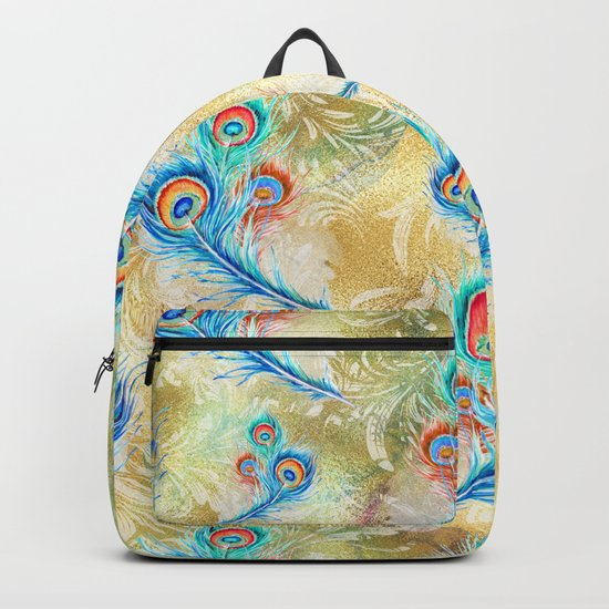 Feather peacock #16 Backpack