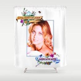 Olivia Newton-John - Long Live Livvy Shower Curtain