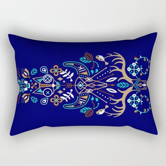 La Vie & La Mort – Navy Rectangular Pillow