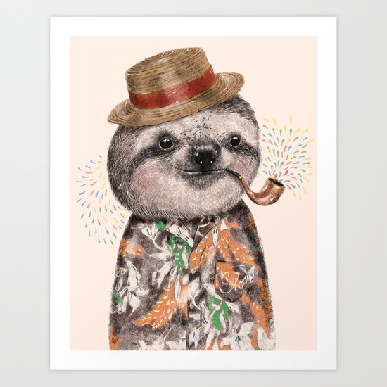 Mr.Sloth Art Print