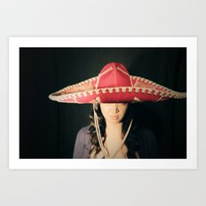 Asian Sombrero Awesome Art Print