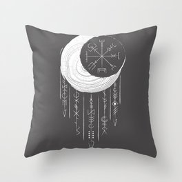 Moon dreaming Throw Pillow