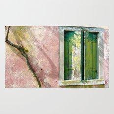 Old green window Rug