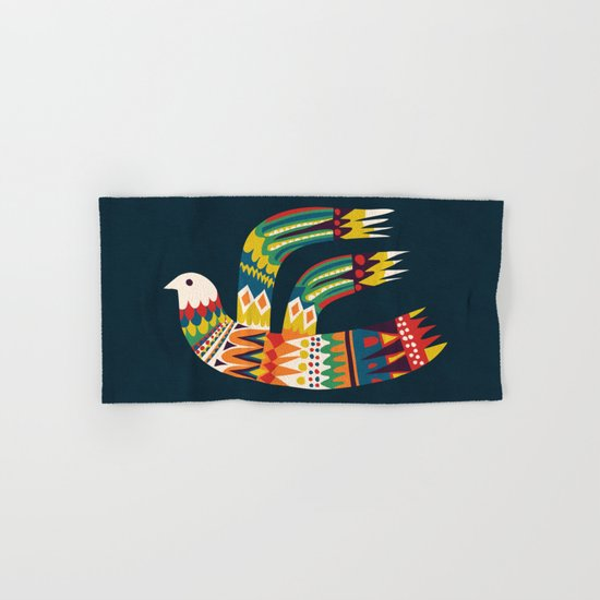 Native Bird Hand & Bath Towel