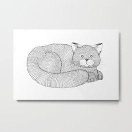 Fine-Lined Feline Metal Print