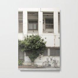 Okinawa bike, Okinawa  tree Metal Print