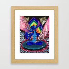 Kosmic Mama Stitch Framed Art Print