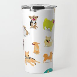 Pattern of dogs, adorable and friendly animal. Travel Mug