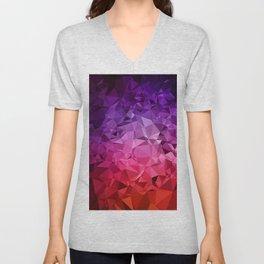 Ultra Violet Diamond Rainbow Unisex V-Neck
