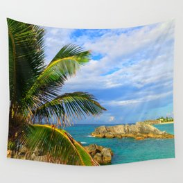 Bermuda Palm Tree Wall Tapestry