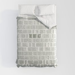 The Riot Act Comforters