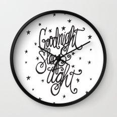 GOODNIGHT SLEEP TIGHT Wall Clock