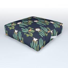 Dark Cactus Desert Outdoor Floor Cushion
