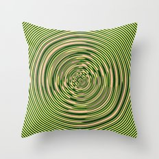 Warped Rings Throw Pillow