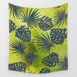 Tropical Leaves Pattern 2 Wall Tapestry