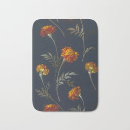 Vintage Marigolds Bath Mat