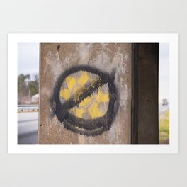 Graffiti Sun Art Print