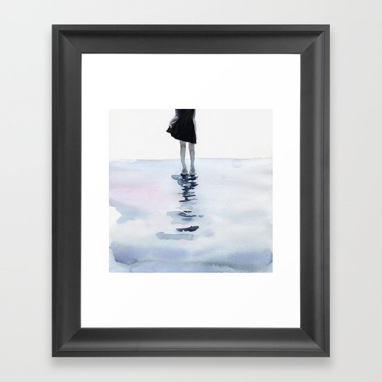 all around the sea Framed Art Print
