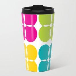 Colorful Bejeweled Circles Travel Mug