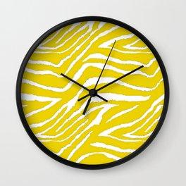 Zebra Golden Yellow Wall Clock