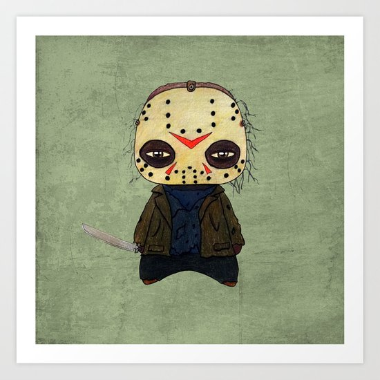 A Boy - Jason ( Friday the 13th) Art Print