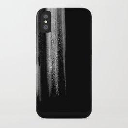 Black And White Bokeh Stripes Brush Strokes - Rad iPhone Case