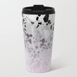 Concrete and Black Marble Mix Pink Gradient Travel Mug