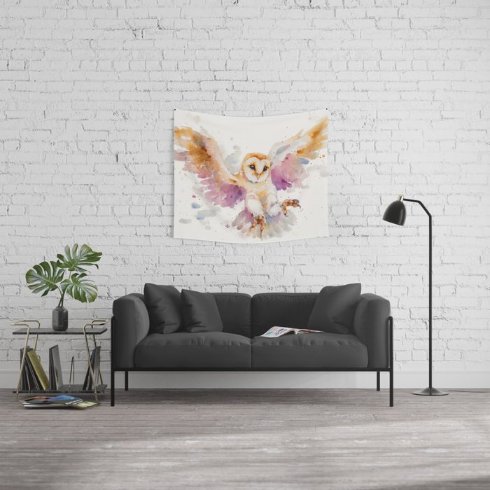 Twilight Owl Wall Tapestry