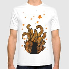 Autumn Fox MEDIUM White Mens Fitted Tee