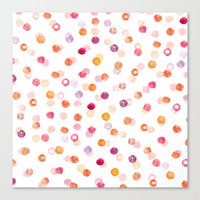 polka Canvas Prints featuring Polka by Eleanor Amelia
