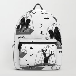 Cactuses In Glass Terrariums with Geometric Backpack