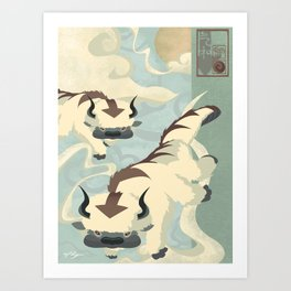 Original Bending Masters Series: Sky Bison Art Print
