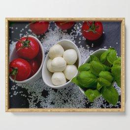 Trio of tomatoes basil fresh mozzarella Serving Tray