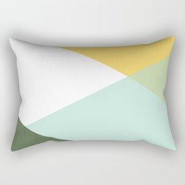Geometrics - citrus & concrete Rectangular Pillow