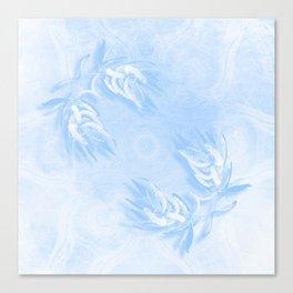 Delicate wattle bouquet in blue Canvas Print