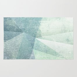 Frozen Geometry - Teal & Turquoise Rug