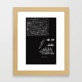 Penmanship. Pen. Man. Ship. Framed Art Print