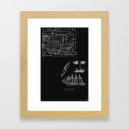 Penmanship. Pen. Man. Ship. Framed Art Print