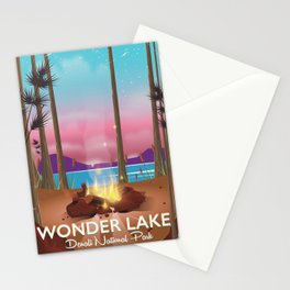 Wonder Lake, Denali national park Alaska Stationery Cards