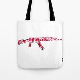 Flower Power Tulip AK47 Tote Bag
