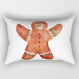 Gingerbread man Cookie Rectangular Pillow