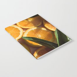 Orange Fruit Pattern Photography Notebook