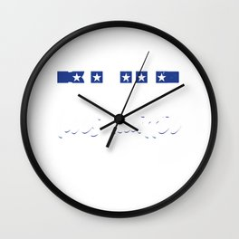 Blue Police Officer Policeman Cop Military Gift Wall Clock