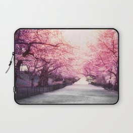 New York City Pink Blossoms Laptop Sleeve