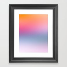Rainbow Blush Framed Art Print