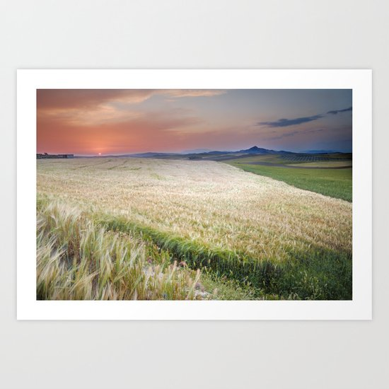 """cereal fields"" Art Print"