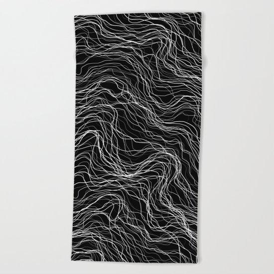 White Veins Beach Towel