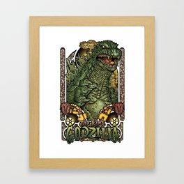 Fear the King! Framed Art Print